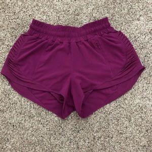 Purple lululemon shorts size 4